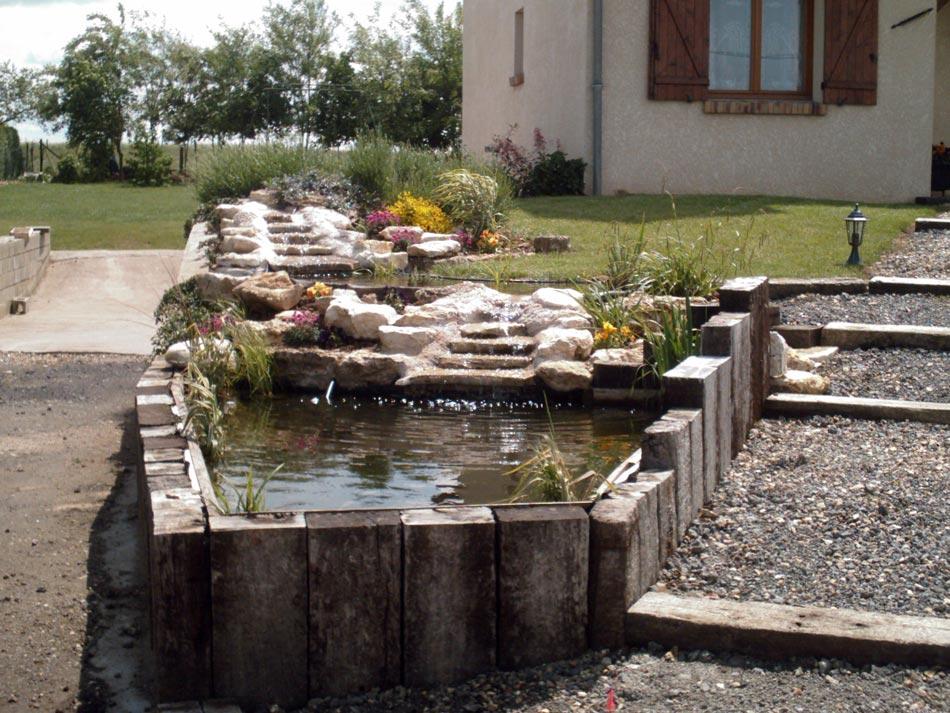 Cr ation d 39 un bassin yvelines van damme parcs et jardins for Paysagiste 78