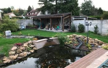 Réaménagement d'un bassin réalisé à Rosny sur Seine (78)